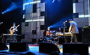Factory Floor - Performing at the Summer Sundae festival, August 2011