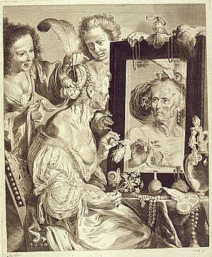 Jeremias Falck - Image: Falck Old woman at the mirror