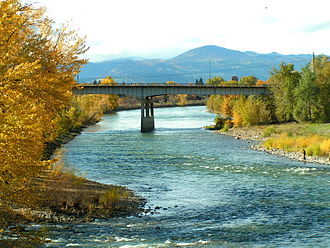 Montana - Clark Fork River, Missoula, in autumn