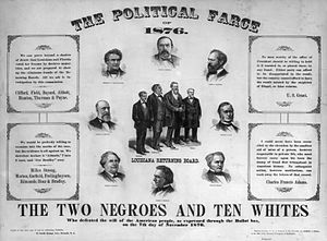 United States presidential election, 1876 - The election was hotly contested, as can be seen by this poster published in 1877