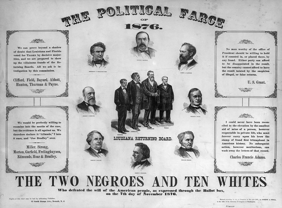 Farce of 1876 poster