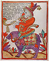 Шут Фарнос верхом на свинье (XVIII век)
