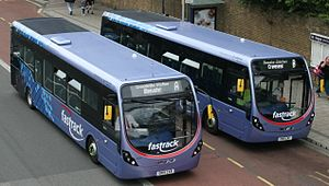 Fastrack (bus) - Wright Streetlites at Home Gardens, Dartford in August 2015