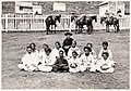 Father Damien with the Kalawao Girls Choir, at Kalaupapa, Molokai, circa 1878 (PP-97-16-004).jpg