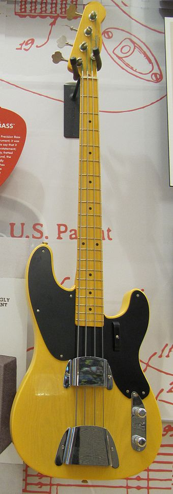 An early Fender Precision Bass Fender '51 Precision Bass, FGF museum.jpg