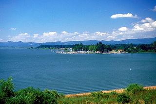 Fern Ridge Reservoir reservoir located near Eugene, Oregon