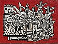 Fernand Léger - Grand parade with red background (mosaic) 1958 made.jpg