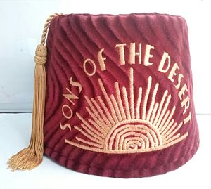 The Sons of the Desert - The fez which is often worn by members