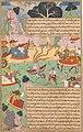 Fighting Arjuna, Susarma Unleashes the Suparna Weapon which Invokes Garuda.jpg