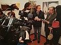 Filip Jovanović in Rome Italy,critic Claudio Lepri.jpg