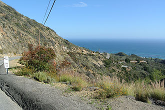 Santa Monica Mountains - First mile of CA 23 and southern coastal scrub