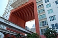 First Street Metromover station under The Loft 2.jpg