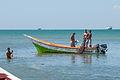 Fishermen returning from fishing in El Guamache, Margarita Island 4.jpg