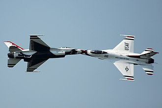 Cleveland National Air Show - The United States Air Force Thunderbirds performed at the 2011 air show.