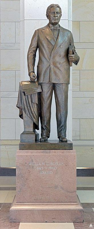 William Borah (Baker) - Image: Flickr US Capitol William Edgar Borah Statue