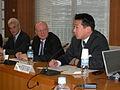Flickr - boellstiftung - Botschafter Volker Stanzel, Ralf Fücks, Tetsuro Fukuyama, Vize-Außenminister, Japan.jpg