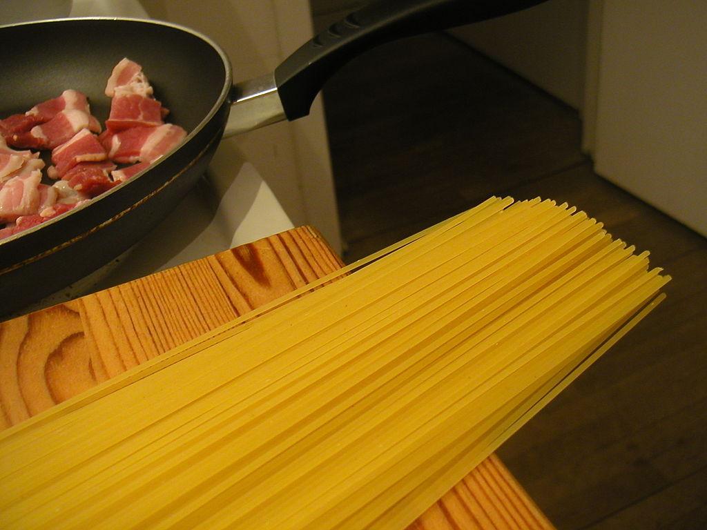 Flickr - cyclonebill - Bacon og spaghetti
