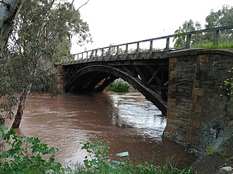 Gawler River (South Australia) - Image: Flooded Gawler River at Angle Vale 2016