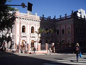 Façade du palais Cruz e Sousa, Florianopolis, ...