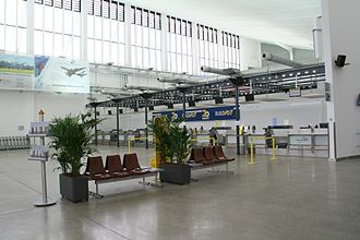 Memmingen Airport - Check-in area inside the main hall