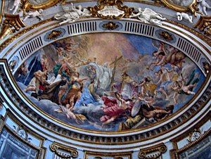 Angela of Foligno - Angela of Foligno, fresco by Francesco Mancini, Dome of Foligno Cathedral