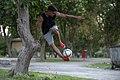 Football freestyle Iran-Mohammad Akbari حرکات انفرادی فوتبال نمایشی. ایران. محمد اکبری 23.jpg