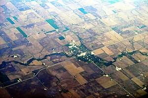 Forrest, Illinois - Aerial view of Forrest, 2012