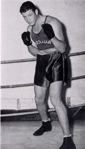 Forest K. Ferguson - Fergie boxing in 1941 Seminole yearbook.