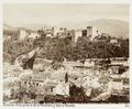Fotografi. Granada. Vista general de la Alhambra y Sierra Nevada - Hallwylska museet - 104830.tif