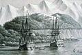 Frégates Astrolabe et Boussole vers 1786 pendant l'expedition La Perouse.jpg