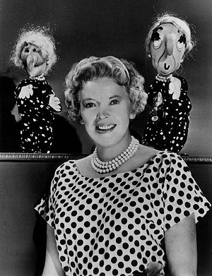 Kukla, Fran and Ollie - Beulah Witch, Fran, and Madame Oglepuss in 1961.