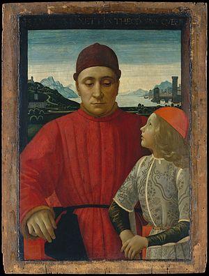 Francesco Sassetti - Image: Francesco Sassetti (1421–1490) and His Son Teodoro MET DT1369