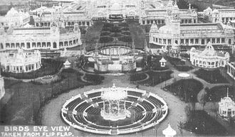 White City, London - Bird's eye view of part of the Franco-British Exhibition (1908)