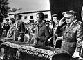Franco met vrouw Dona Carmen Polo (rechts) links opvolger Prins Juan Carlos met (no frame).jpg