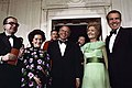 Frank Sinatra Standing with President Richard Nixon, Pat Nixon, and President of the Council of Ministers of the Italian Republic Giulio Andreotti.jpg