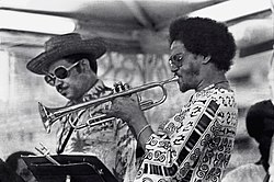 Frank Wess (left) and Jimmy Owens, 1977