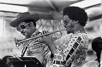 Jimmy Owens (musician) - Frank Wess and Jimmy Owens in 1977