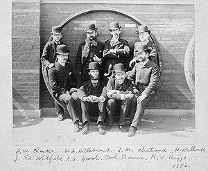 Frank Wigglesworth Clarke - Frank Wigglesworth Clarke, back row, left, with colleagues