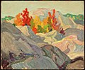 Franklin Carmichael - Autumn Foliage against Grey Rock 1920.jpg