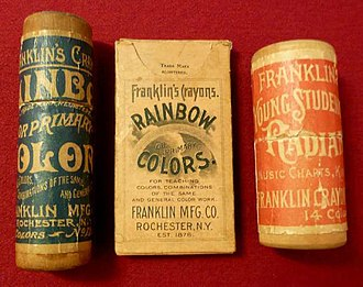 Crayon - Surviving boxes from Franklin Mfg Co.