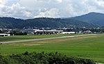 Freiburger Flugplatz mit Messe, Blick vom Wolfsbuck 2.jpg