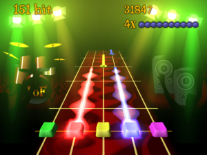Cultural impact of the Guitar Hero series - Frets on Fire is one of the many clones based on the success of the Guitar Hero series.