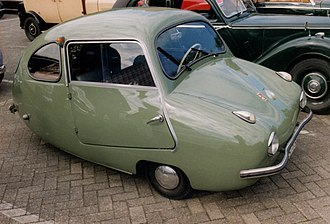 Three-wheeler - Fuldamobil three-wheeler (Postwar-era Germany)