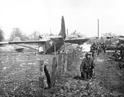 GLIDER TROOPS AFTER LANDING NEAR WESEL (Operation Varsity)