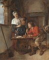 GM-108-Gabriel Metsu-A Young Woman Pouring Beer and a Young Man Smoking.jpg