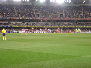 The Gabba - An Australian Football Match at the Gabba in 2008.
