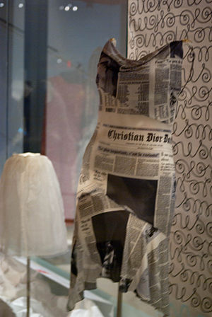 John Galliano - Galliano dior newspaper dress at the ROM, donated by Kara Alloway