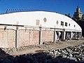 Garáže Dejvice, přestavba, západní strana.jpg