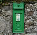 Garrykennedy, green Irish post box.jpg