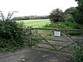 Gated private track - geograph.org.uk - 989925.jpg